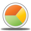 chart, analytics, pie icon