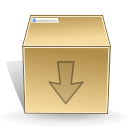 inventory, box, download icon