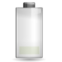 Status battery low icon