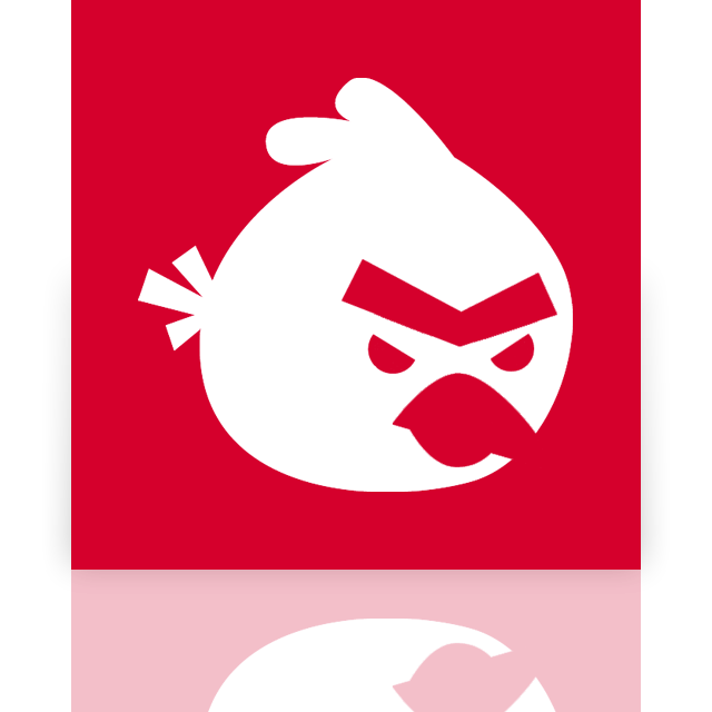 birds, angry, mirror icon