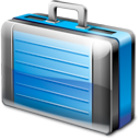 travel, suitcase, briefcase, case, business, bag, work, job, career icon
