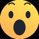 reaction, amaze, emot, emoji, surprise, shock icon