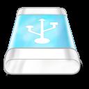 drive blue usb icon