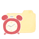 clock, folder, vanilla, ak icon