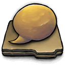 log, chat icon