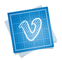 social, blueprint icon