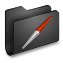 Black, Folder, Sites icon