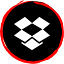 media, social, dropbox, logo icon