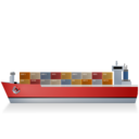 ContainerShip Left Red Ship icon