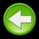 Actions arrow left icon