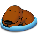 sleeping,old,dog icon