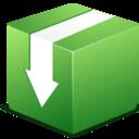 download,box,descending icon