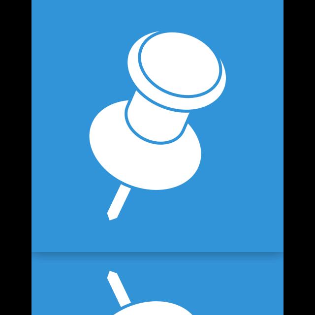 mirror, pin icon