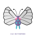 butter, pokemon, bug, fly, kanto icon