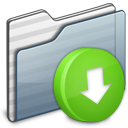Drop Box Folder graphite icon
