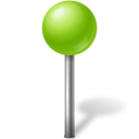 chartreuse, mapmarker, ball icon