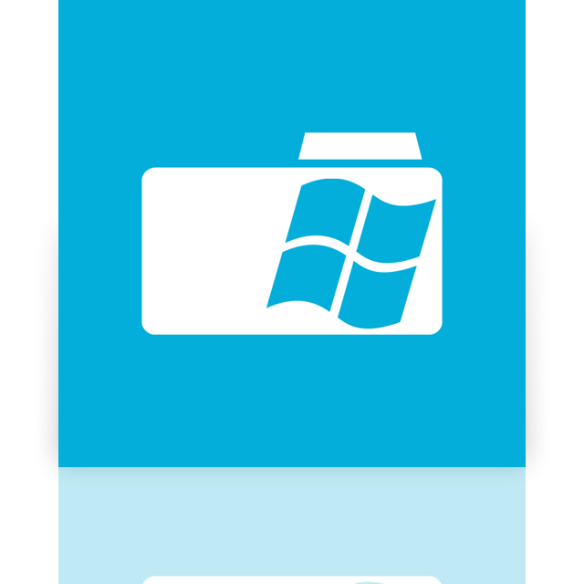 folder, window, mirror icon