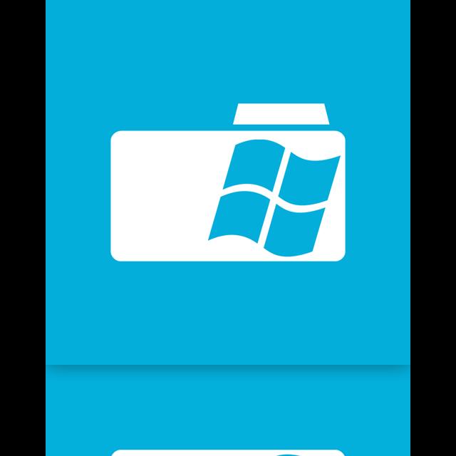 folder, window, mirror icon