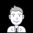 user, person, suit, avatar, male, businessman icon