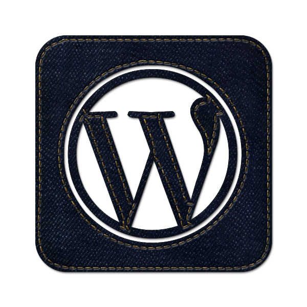 wordpress, jean, social, logo, square, denim icon