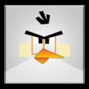 white,angrybird,frameless icon