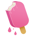 pink, cream icon