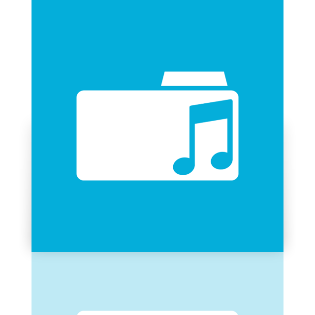 mirror, music, folder icon