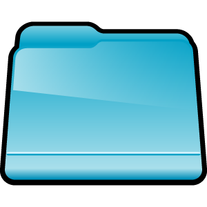 folder, blue, generic icon