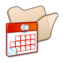 Beige, Folder, Scheduled, Tasks icon