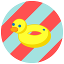 duck, pool, summer, vacation, beach icon