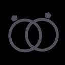 mariage, gift, rings, groom, wedding, bride, couple icon
