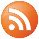 orange, feed, social, rss, button icon