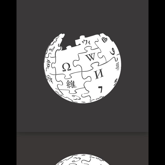 alt, mirror, wikipedia icon
