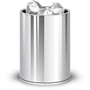 trash can, full icon