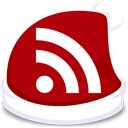 subscribe, xmas, red, feed, rss icon