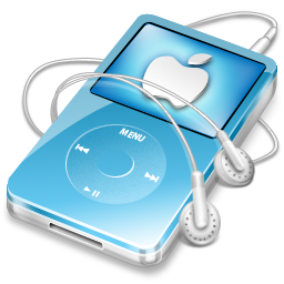 blue, ipod, apple, video icon
