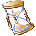 hourglass, time, history icon