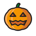 scary, halloween, jack o'lantern, pumpkin, horror, monster icon
