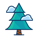 forest, pine, cloud, christmas, tree icon