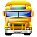 transportation, service, school bus icon
