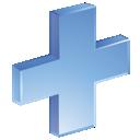plus, blue icon