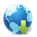 downloads, planet, earth, world icon