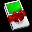 mp3 player, xmas, present, christmas, ipod, gift icon