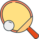 Sports Table Tennis Paddle Ball icon