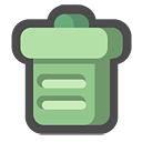 empty, trash can, bin, recycle icon