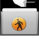 public, folder, graphite icon