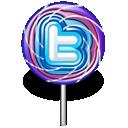 twitter, lollipop, candy icon