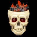 Burning, Skull icon