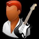 male, guitarist, dark icon