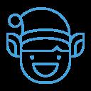 smile, emot, elf, emoji, grin, happy icon